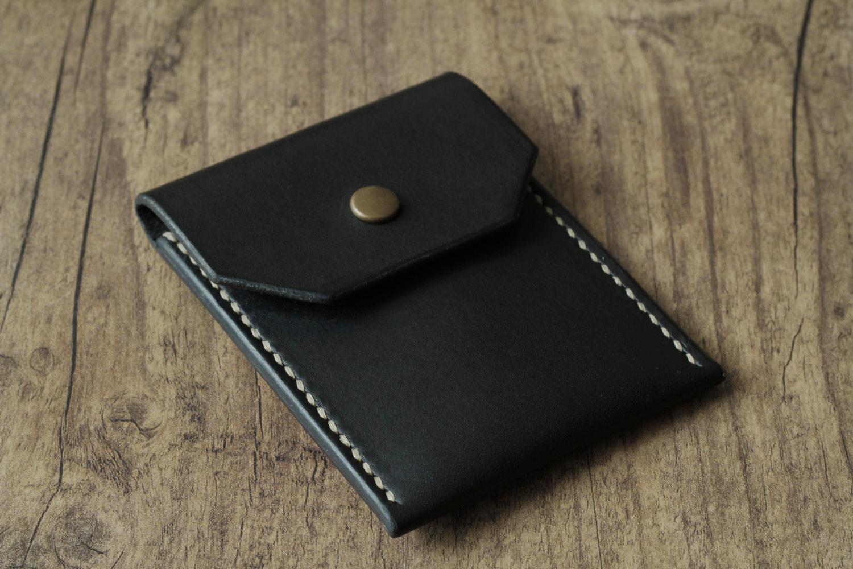7feec39950e91 Einfacher Leder Geldbeutel minimalistisch schwarz - NOVOLEDER
