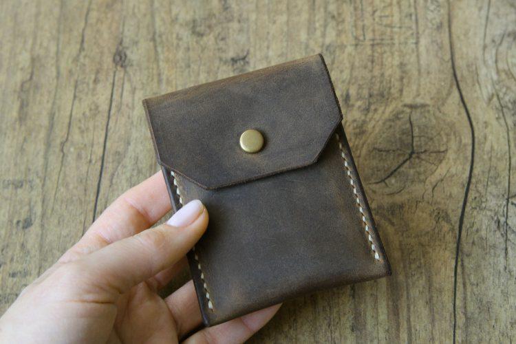 minimalist geldbeutel leder