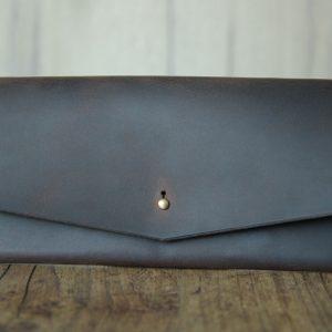 handgefertigte leder brieftasche