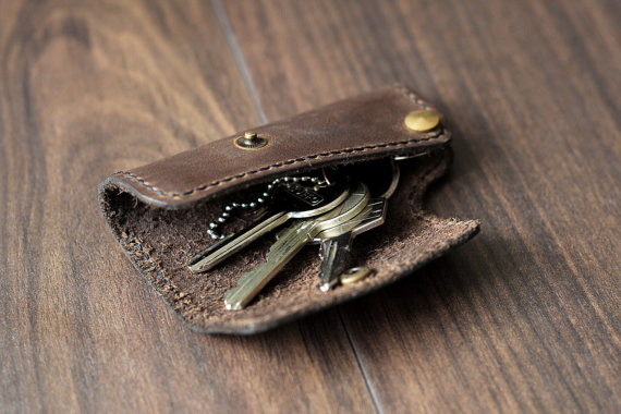 leder schlüsseltasche handmade