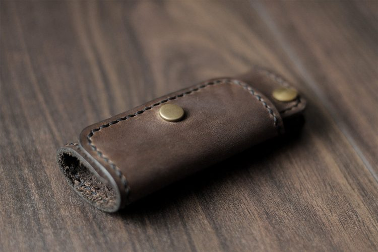 handmade schlüsseltasche leder