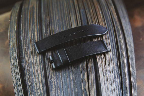 leder uhrenarmband schwarz